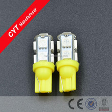 2015 New DC 12V T10 2.5W 9SMD 5050 LED Yellow Car Lights Clearance Lights/Marker Light