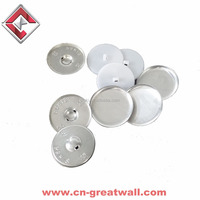 Aluminum self cover button,fabric covered button moulds,alloy cover button