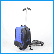 Aluminum frame scooter luggage case