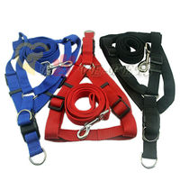 High Quality Nylon Material Pure Color Dog Harness and Leash Factory Produce Drop Shipping C1009