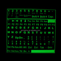 Brand NEW TOP-quality DIY Self-adhesive Glowing Luminous Fluorescent Keyboard Stickers