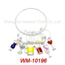 WM-10196 Latest product trendy style spiritual journey wine charms for 2015