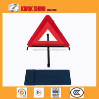 High quality auto emergency car first aid kits with warning triangle | Car accessories safety led traffic waring triangle signs