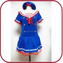 Sexy blue dress sailer girl uniform cosplay costume for japan girl PGFC-2472