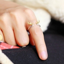 Alloy Metal Animal Antler Ring for Girls & Women's Photography Prop Finger Decoration HSAR-Y04