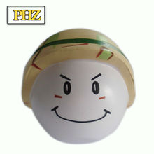 smile face PU anti stress balls