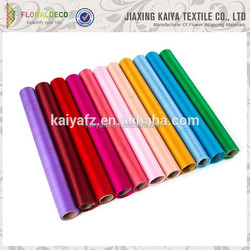 Various colored wedding decor polyester nylon organza sheet rolls