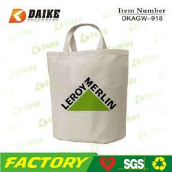 DK-MH081 plain white cotton canvas tote bag , standard size cotton canvas bag