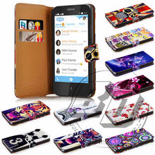 For Nokia X High Quality Print Card Holder Flip PU Folio Wallet Leather Case Cover Moible Phone Csae