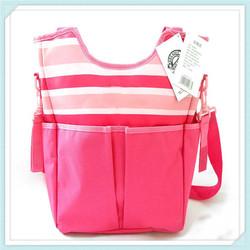 Hot sale stripe printed baby diaper bag changing bag