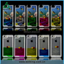 New product!!! For iPhone 5/5s plastic beautiful Seaworld flash quicksand case for mobile iPhone