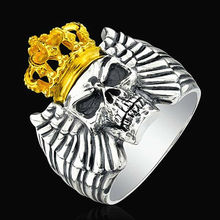 2013 fashion rings Stainless steel The King skull ring wholesale