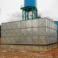 galvanized steel 100,000 liter water tank for storage of irrigation water