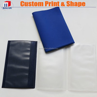 custom made plastic trifold soft pvc parking ticket holder / wallet
