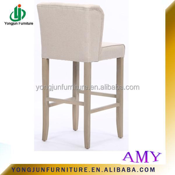 Style français bois massif conception en bois tabouret de Bar mobilier de bar, Haute qualité Antique blanc tissu Bar chaise haute chaise pour salle à manger