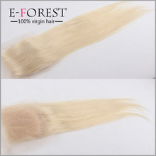 Swiss Lace Blonde Closure 4x4 613 Blonde Brazilian Straight Hair Closure Top Grade 7A Virgin Hair Extensions Fast Shipping