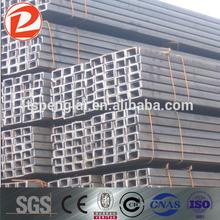 Uc canal de acero / conformado en frío canal c sección de acero tamaños