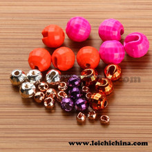 Rainbow tungsten slotted faceted beads wholesale