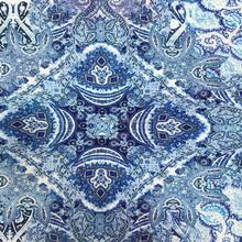 Digital print italian silk fabric for scarf or garment