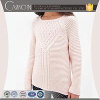 custom design classic pattern raglan sleeve acrylic beautiful sweaters for girls