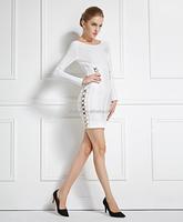 white plus size bandage dress xl women hl wholesale long sleeve bandage dress