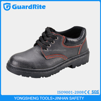 GuardRite Brand Cheap Wholesale Black PU Leather Rubber Safety Shoes Boots