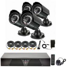 3.6mm IR Night Vision Cam 800 tvl & DVR Security 4ch CCTV DVR Kit Outdoor