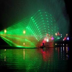 Music dancing water screen fountain colorful night water movie fountain