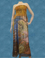 Good Prices Hot Quality Tall Vintage Tube Women Dress Sexy Hippie Printed Maxi Dress