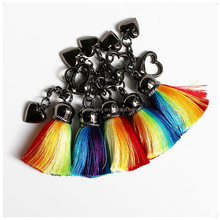 Unique Colorful Tassel keyring/keychain bag accessories keychain wholesale