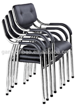 2015 hot sale comfortable leather conference waiting cheap receiption chair with arm