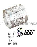 Hollow Pattern Stainless Steel Napkin Ring For Hotel / Home