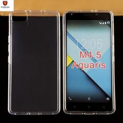 New Arrival Spain brand mobile phone Soft Anti finger print clear silicone gel tpu cover case for BQ Aquaris M4.5 M5,M5.5