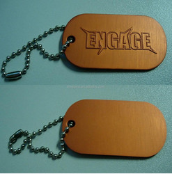 ENGAGE letter engraved aluminum anodized dog tag charms