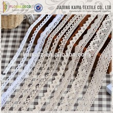 Cotton pure colored new lace material for sale