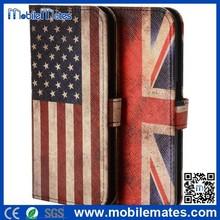 for Galaxy S6 Edge Flip Cover, Retro UK Flag Leather Case for Galaxy S6 Edge, for Galaxy S6 Edge Stand Wallet Case