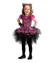 Leopardo del bebé del tutú de los niños del vestido de Halloween cosplay modelado ropa, vestido del bebé + falda + tocado