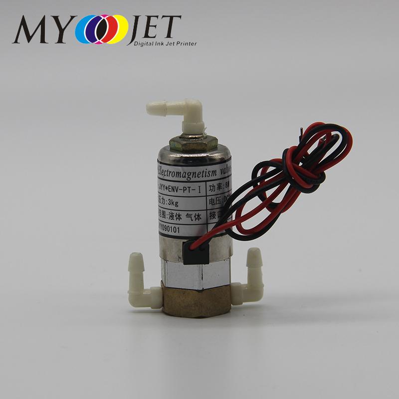 Myjet stampante a getto d'inchiostro solvente pezzi di ricambio 3 vie solenoide elettrico valvola magnetica