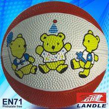 Good quality rubber basketball custom mini #3 indoor basketball