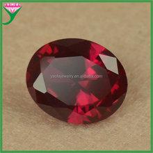 Factory price 8 # color 10*12mm synthetic oval diamond cut corundum semi-precious stone