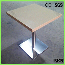 Scratch resistant absolutely white quartz stone dining table design table