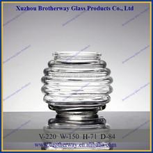 Ornamental 220ml ball shaped stripe wedding favor glass jars