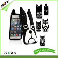 3d dog silicon cover for iphone 6 cartoon phone case