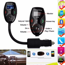 Bluetooth Car Kit handsfree Bluetooth FM Transmitter Modulator Car MP3 Player+LCD Display