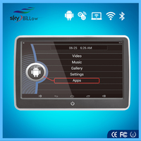 """new design 10"""" universal touch screen android 4.4.4 headrest car dvd player"""