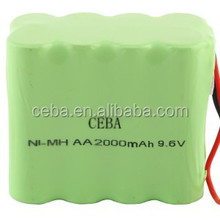 nimh aaa 9.6v 800mah rechargeable battery pack