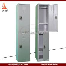 Edsal Customized style double tier steel locker Metal foot locker wardobe cabinet with adjustable shelf