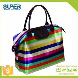 2015 hot sale folding beach hand bag, sand beach bag for promational, folding shopping bag