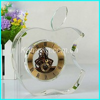 Best choice alibaba China souvenir crystal table clock for the business gifts