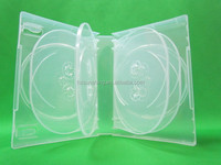 35mm gloosy surface plastic pp mutil 10 discs dvd box with outer clear plastic sleeve